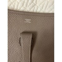 Leather Taupe Shoulder Bag by Hermès Angle2
