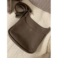 Leather Taupe Shoulder Bag by Hermès Angle3