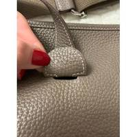 Leather Taupe Shoulder Bag by Hermès Angle6