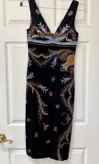 Roberto Cavalli Deep V-Neck Dress Angle2