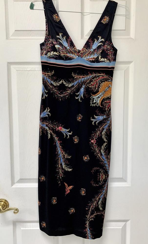 Roberto Cavalli Deep V-Neck Dress