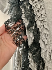 Lace-Detailed T-Shirt Angle3