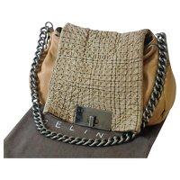 Céline Leather Flap Hand Bag