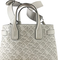 Burberry The Banner Leather Handbag in White