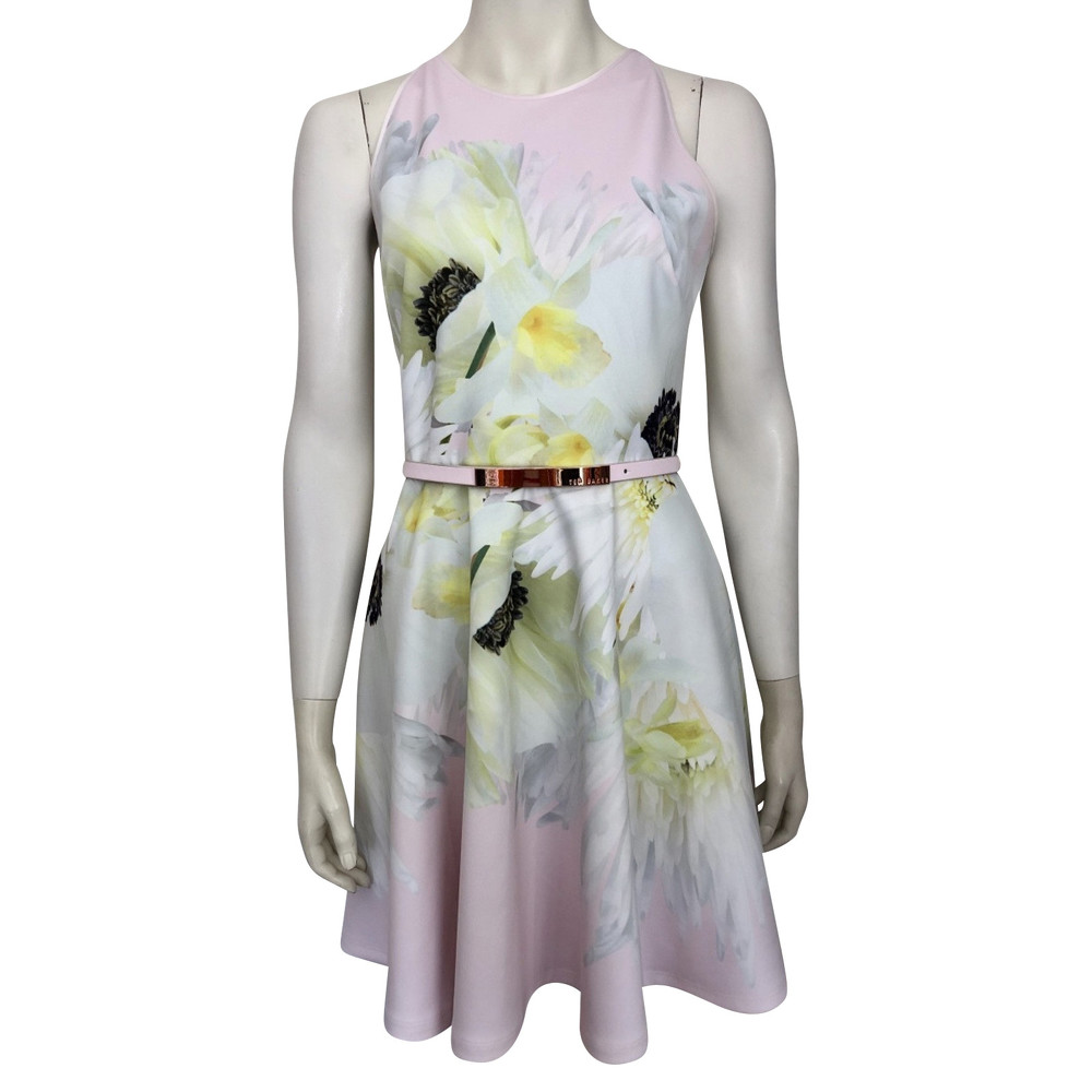 Ted Baker Multi Color Dress With Belt