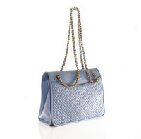 Tory Burch fleming flap bag in sky blue
