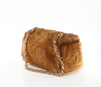 Suede Chanel doctor bag. Angle2