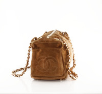 Suede Chanel doctor bag. Angle3