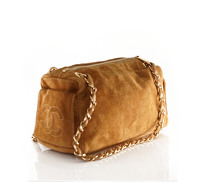 Suede Chanel doctor bag. Angle4