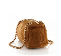 Suede Chanel doctor bag. Angle5