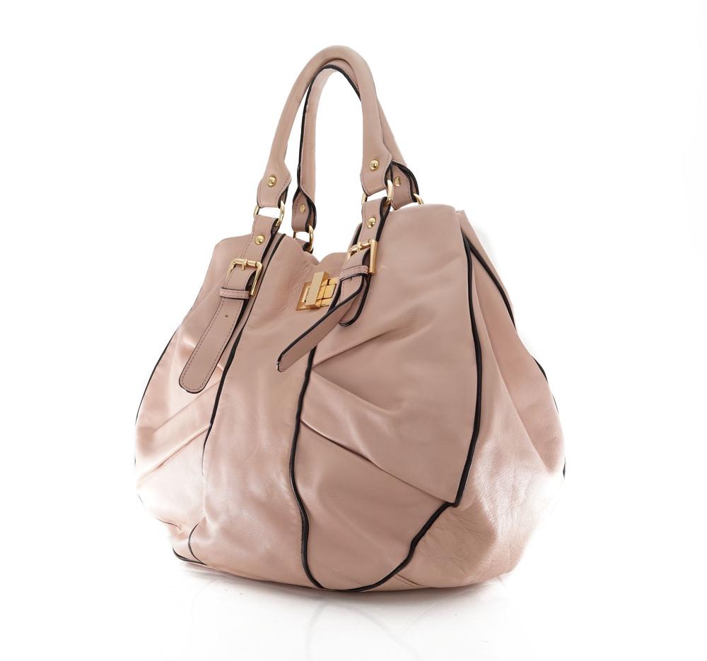 Marni large U shape handbag with trim