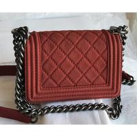 Chanel Small Handbag In Bordeaux Color Angle2