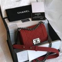 Chanel Small Handbag In Bordeaux Color
