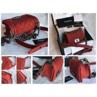 Chanel Small Handbag In Bordeaux Color Angle5
