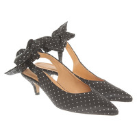 Ganni Pumps With Dot Pattern And Bow Application