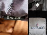 Moncler Blue Angers Fur Trimmed Down Hooded Jacket Angle4