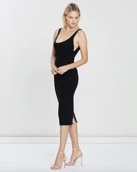 Alex Perry Black Stretch Singlet Dress Angle3