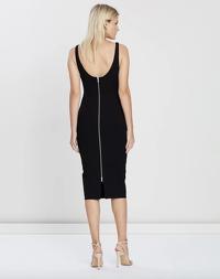 Alex Perry Black Stretch Singlet Dress Angle4