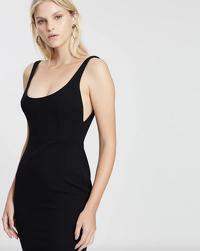Alex Perry Black Stretch Singlet Dress Angle2