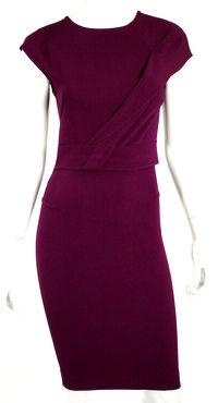 ROLAND MOURET Berry Purple Dress