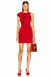 Cinq a Sept Short Sleeveless Ruffle Dress