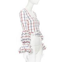Rosie Assoulin Puff Sleeve Wrap Top Angle4