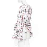 Rosie Assoulin Puff Sleeve Wrap Top Angle7