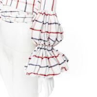 Rosie Assoulin Puff Sleeve Wrap Top Angle11