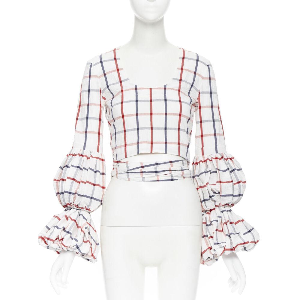 Rosie Assoulin Puff Sleeve Wrap Top