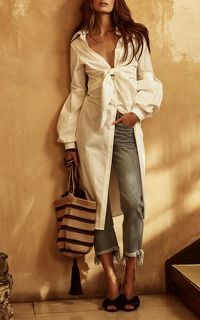 Johanna Ortiz White Shirt Dress Angle2