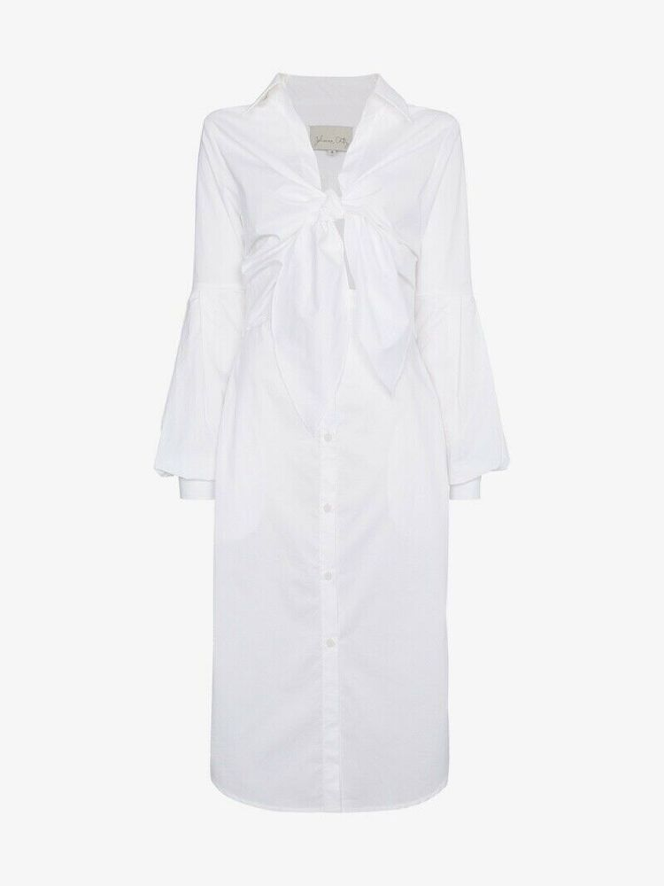Johanna Ortiz White Shirt Dress