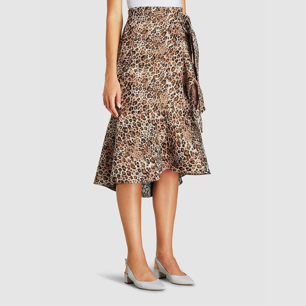 Johanna Ortiz Skirt With Leopard Print