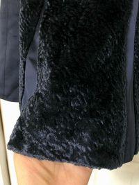 Anna October Silk Skirt With Faux Fur Angle2