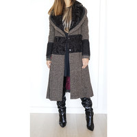 Dolce & Gabbana Wool Coat With Panels Angle4