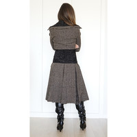 Dolce & Gabbana Wool Coat With Panels Angle5