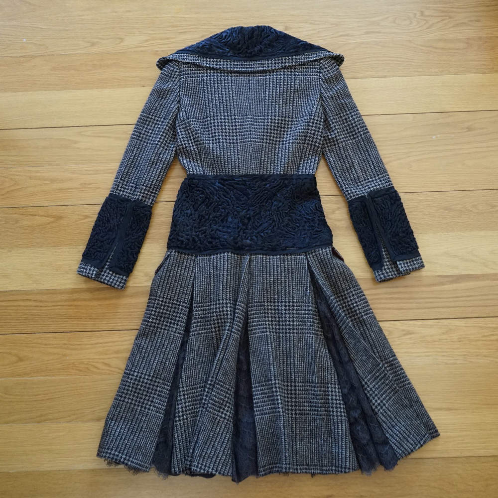 Dolce & Gabbana Wool Coat With Panels