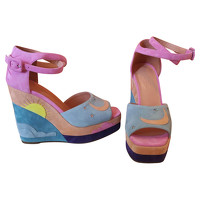 Hermes Suede Sandals Angle1