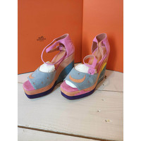 Hermes Suede Sandals Angle2
