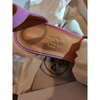 Hermes Suede Sandals Angle4