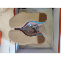 Hermes Suede Sandals Angle5
