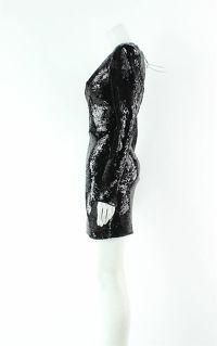 Alex Perry Blondell Black Mini Dress Angle2