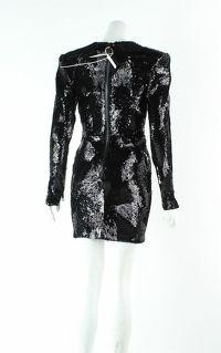 Alex Perry Blondell Black Mini Dress Angle4