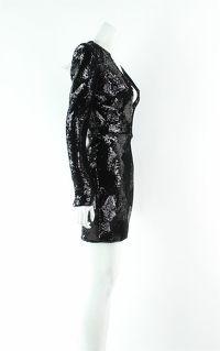 Alex Perry Blondell Black Mini Dress Angle3
