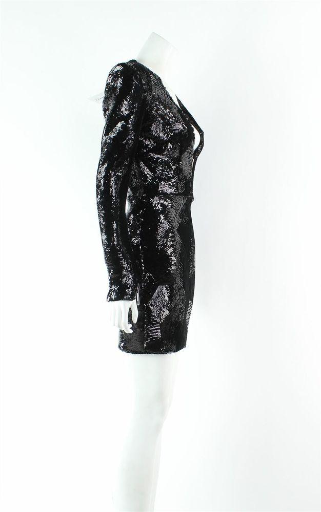 Alex Perry Blondell Black Mini Dress