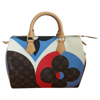 Louis Vuitton Speedy 30 Bandouliere Linen in Brown Angle1