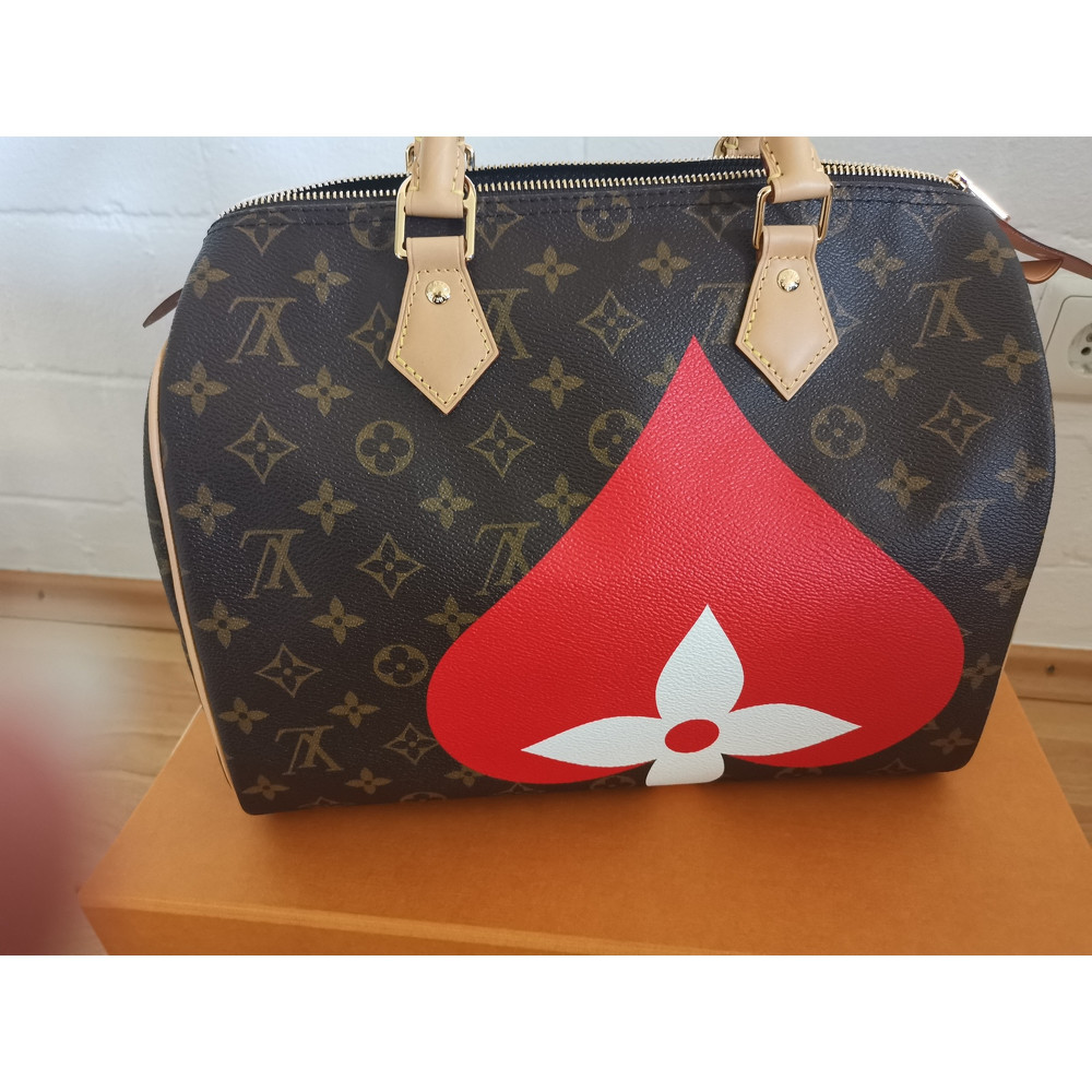 Louis Vuitton Speedy 30 Bandouliere Linen in Brown