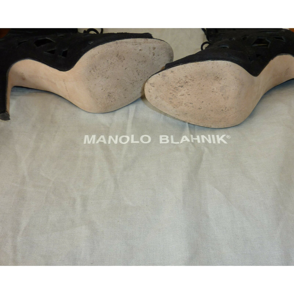 Manolo Blahnik Ankle Boots In Black