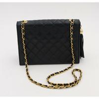 Chanel Handbag With Golden Metal Pompom Angle2