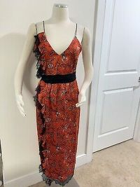 Cinq A Sept Sleeveless Midi Red Dress