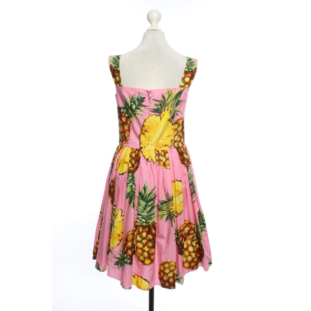 Dolce & Gabbana Motif Print Dress With Buttons